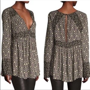 Free people rolling hills babydoll blouse